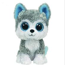 1PC 18cm Hot Sale Ty Beanie Boos Big Eyes Husky Dog Plush font b Toy b