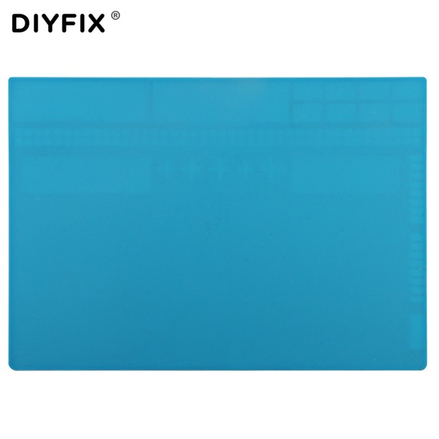 DIYFIX żaroodporne biurko izolacyjne Hot wiatrówka mata miękka podkładka silikonowa telefon komórkowy BGA lutowania DIY Repair Tool