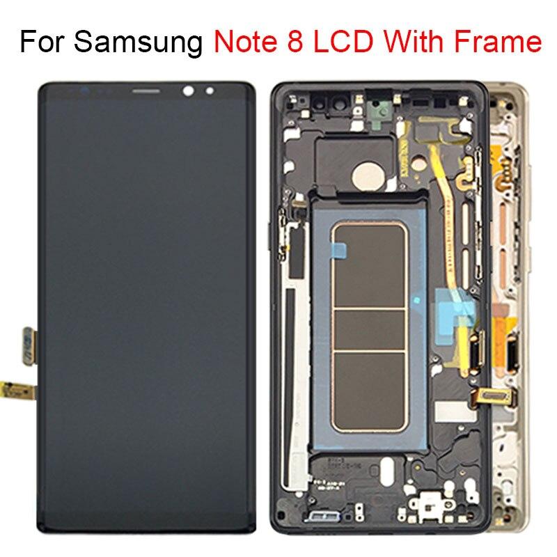Pour l'écran d'affichage à cristaux liquides de Samsung Galaxy Note 8 avec l'assemblage de numériseur d'écran tactile remplacent 100% testé
