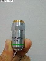휴대용 현미경 metallographic 현미경 195 시리즈 평면 필드 무색 대물 렌즈 20x 인터페이스 20.2mm/rms 스레드
