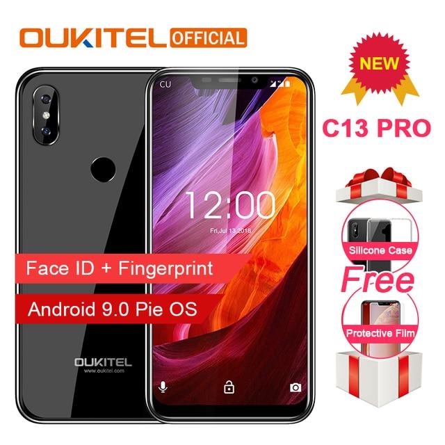 "OUKITEL C13 Pro 5G/2.4G WIFI 6.18"" 19:9 2GB 16GB Android 9.0 Mobile Phone MT6739 Quad Core 4G LTE Smartphone Face ID Fingerprint"