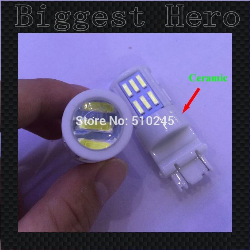 20X 12v-24v ceramic led car lamp 3157 lens 27 smd leds 7014 7020 27SMD T25 tail brake Light Bulb Lamp free shipping