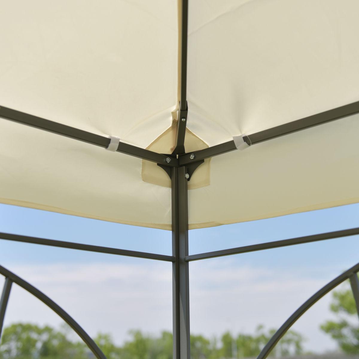 Goplus Patio 10 \'X10 \'Square Gazebo Canopy Tent Waterproof Steel ...