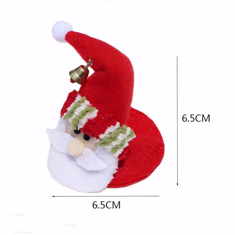 1 STKS Kerstfeest Ronde Onderzetters Kerstman Cup Mat Kerst Wijnfles - Feestversiering en feestartikelen - Foto 6
