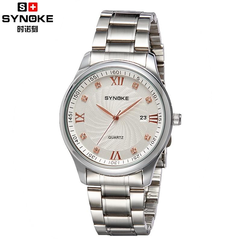 Watches Men Luxury Synoke Brand Business Watch quartz sport men full steel wristwatches dive 30m Casual clock relogio masculino