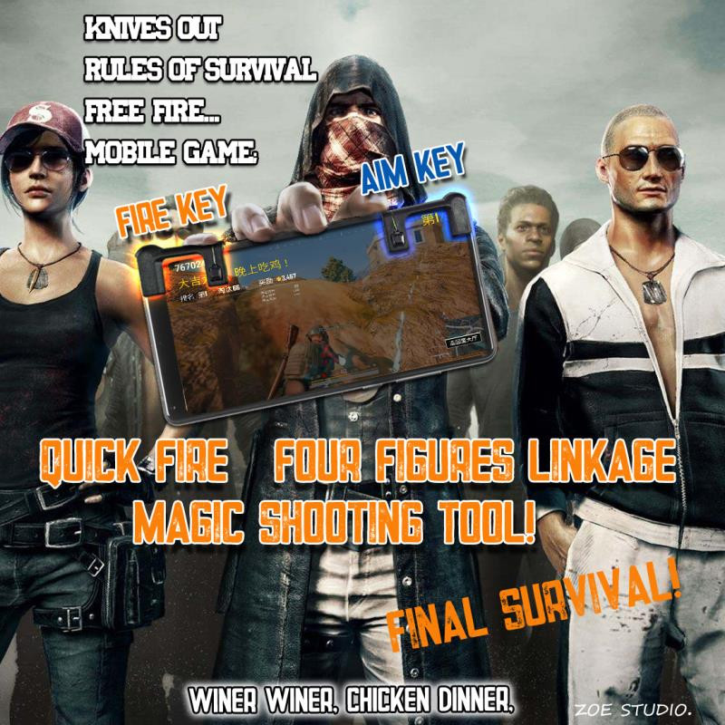 Knives out Rules of Survival Mobile Game Fire Button Aim Key Smart phone Mobile Gaming Trigger L1R1 Shooter Controller PUBG martin g r r dance with dragon book 5 of song of ice and fire
