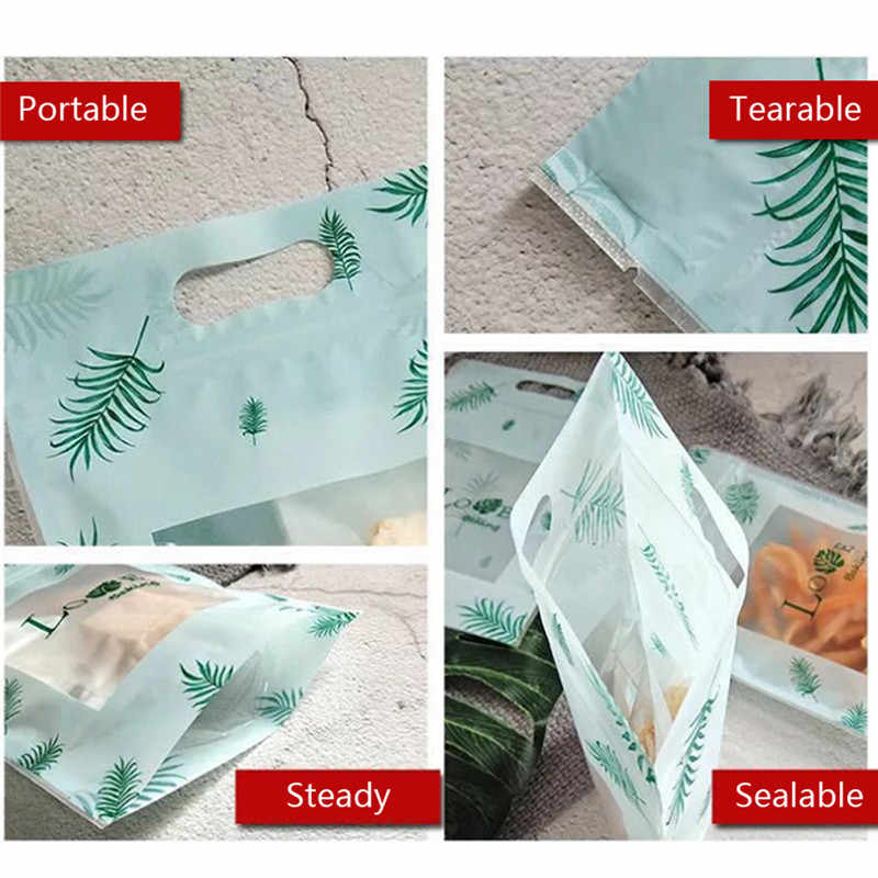 50PCS Stand Up Zip Lock Bags Plastic Pouches Party Gifts Bags Food Storage Packaging Resealable