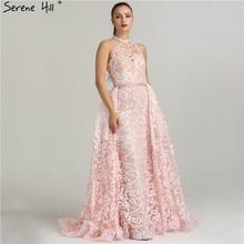 SERENE HILL Sexy Sheer Halter Evening Dresses 2019 Gowns