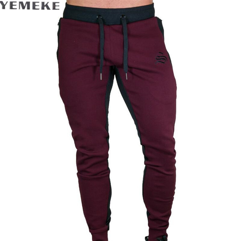 Autumn new Mens Fitness Brand Sweatpants Pant male Bodybuilding drawers Elastic band Solid color trousers Fashion Pencil pants