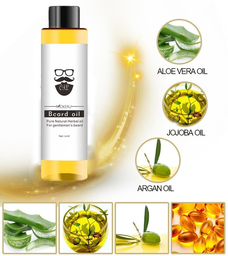 MOKERU Natural Beard and Moustache Oil