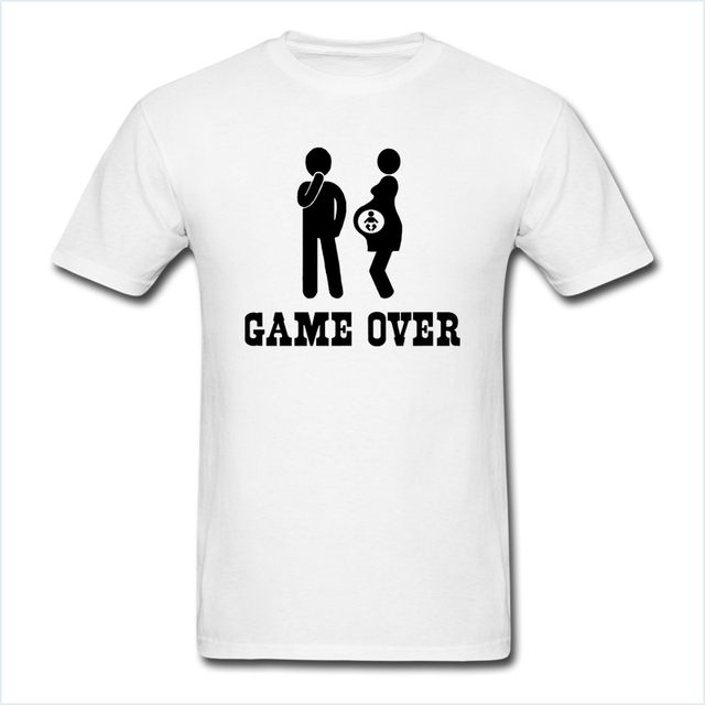 Game over tshirts men funny marriage t shirt short sleeve for Funny getting married shirts
