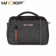 K & f conceito camera case bolsa de ombro messenger bag para canon para nikon para sony para slr dslr serve para 1 câmera + 2 lentes preto