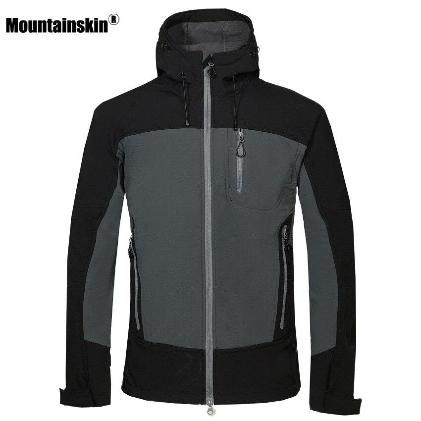 Mountainskin Men s Winter Softshell Fleece Jackets Outdoor Sportswear Coat Hiking Trekking Camping Skiing Male Windbreaker