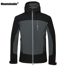 Mountainskin Men's Winter Softshell Fleece Jackets Outdoor Sportswear Coat Hiking Trekking Camping Skiing Male Windbreaker VA188