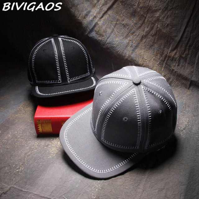 f5e4efb0e0b 2016 New Black Gray Bones Snapbacks Hats Simple College Style Embroider  Line Blank Baseball Cap Hip Hop Caps Gorro For Men Women