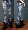 Cool Street Dying Blue Jeans Pants for BJD 1/4 ,1/3,SD17, Uncle BJD Doll Clothes