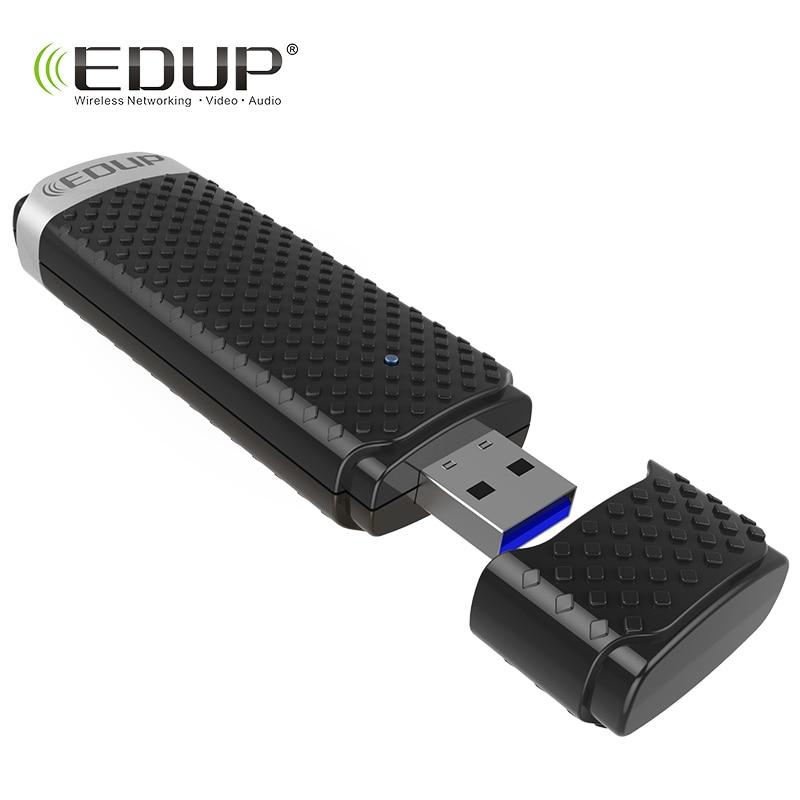 купить EDUP 5ghz usb wireless wi-fi adapter high speed 1200mbps usb 3.0 ethernet adapter wifi receiver Windows Mac for notebook desktop по цене 876.11 рублей