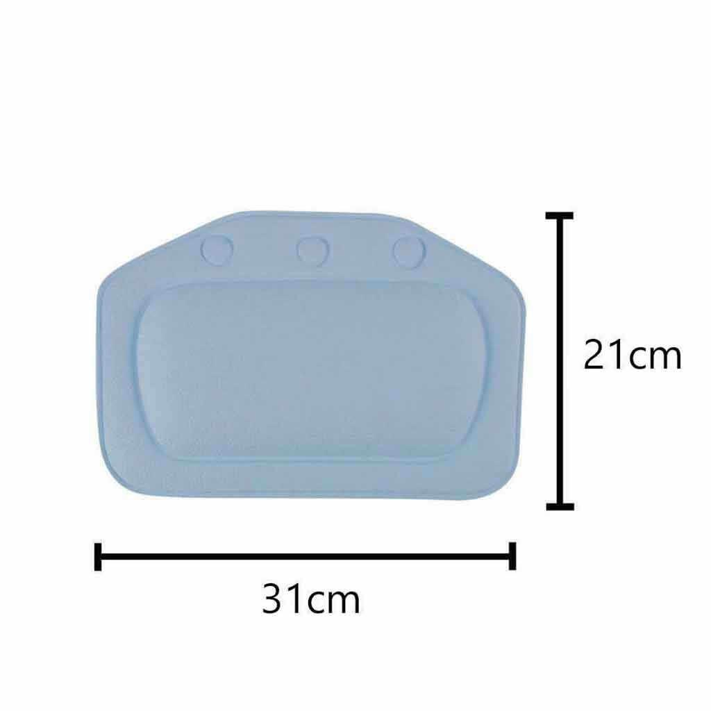 Wygodne SPA poduszka do kąpieli wanna łazienka szyi zagłówek samochodowy miękka podkładka ssania lipca # r 17