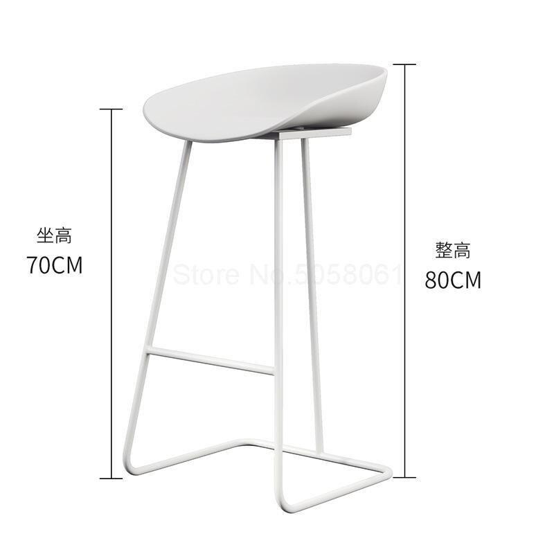 Скандинавский барный стул из кованого железа креативный простой барный стул кафе Золотой барный стул передний высокий стул - Цвет: ml2