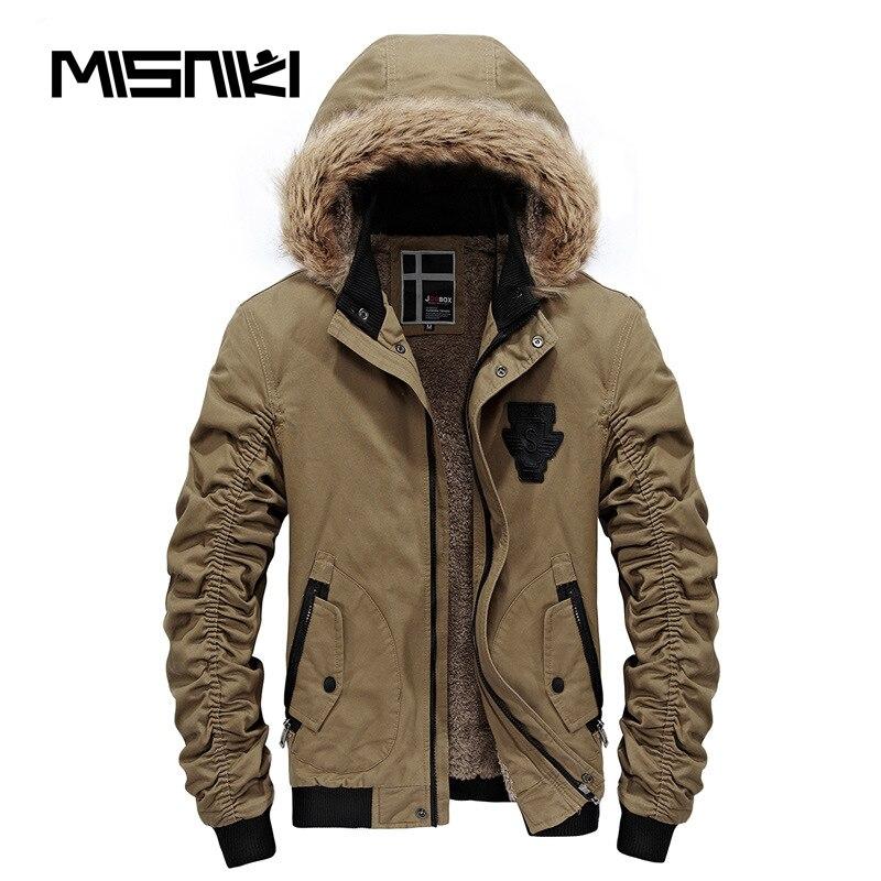 Misniki бренд 2018 горячей моды с капюшоном Для мужчин зимняя куртка пальто Высокое качество Повседневное тонкий Для мужчин; зимняя куртка S