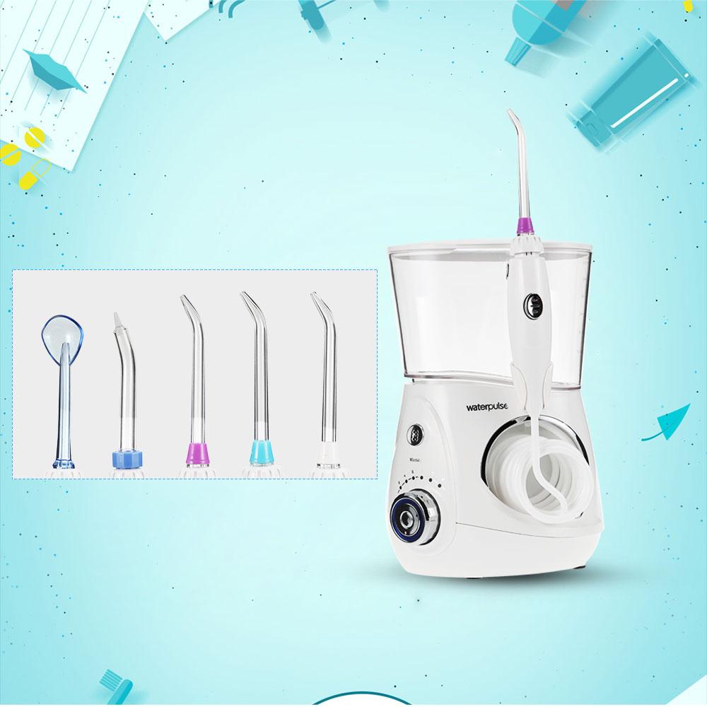 Agua pulso v660 irrigador oral Hilo dental Power dental Hilo dental water jet oral Cuidado dientes limpiador irrigador con 5 punta y 700 ml