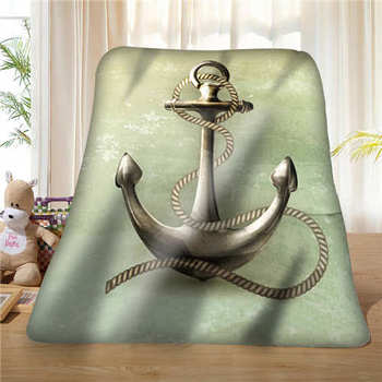 Custom Anchor Logo in the Water  (1) Blanket Soft Fleece DIY Your Picture Decoration Bedroom Sofa Multi Size#928-01-49