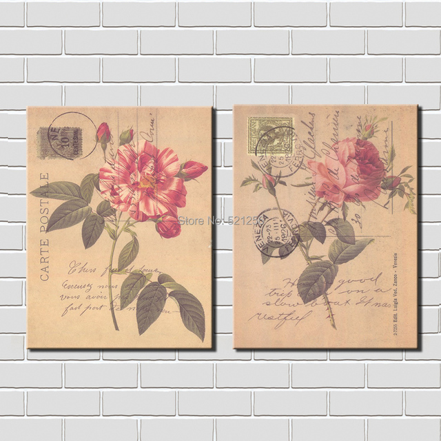 Decoration Carte Postale.Us 28 1 Modern Wall Art Home Decoration Printed Oil Painting Pictures Canvas Prints No Frame 2 Panel Classical Roses Carte Postale Decor In Painting