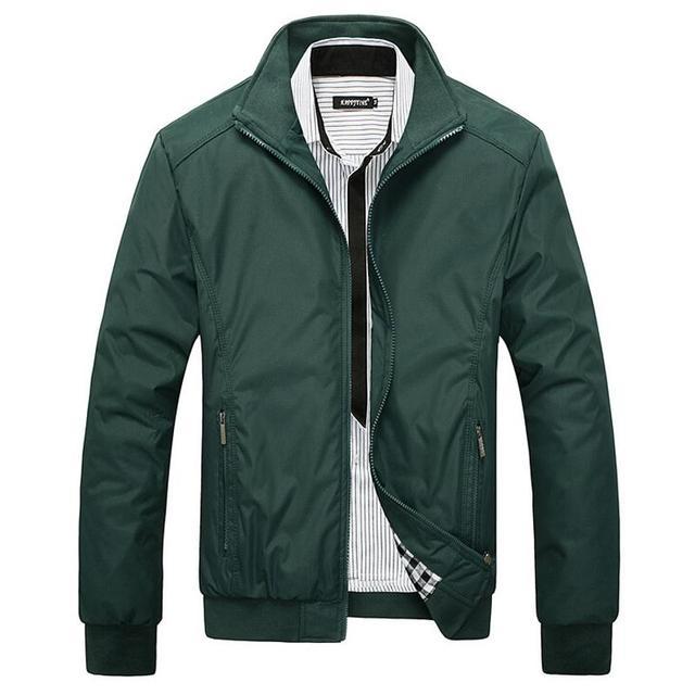New Arrival 2016 Men's Jacket Male Overcoat Casual Slim Fit Mandarin Collar Solid Waterproof Jackets M-XXXL Men Jackets coats