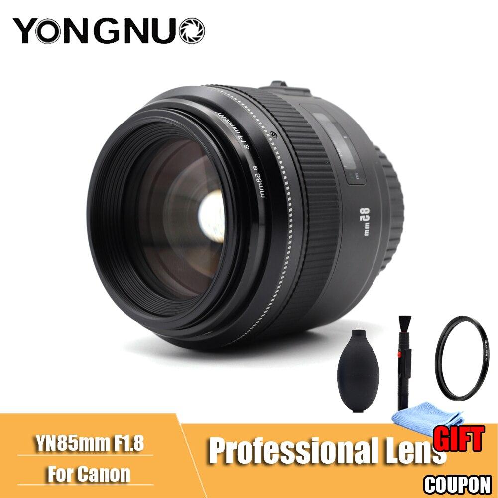 YONGNUO YN85mm F1.8 AF/MF Standard Moyen Téléobjectif Premier Objectif 85mm Fixe Focale D'objectif de Caméra pour Canon EF mont EOS Caméras