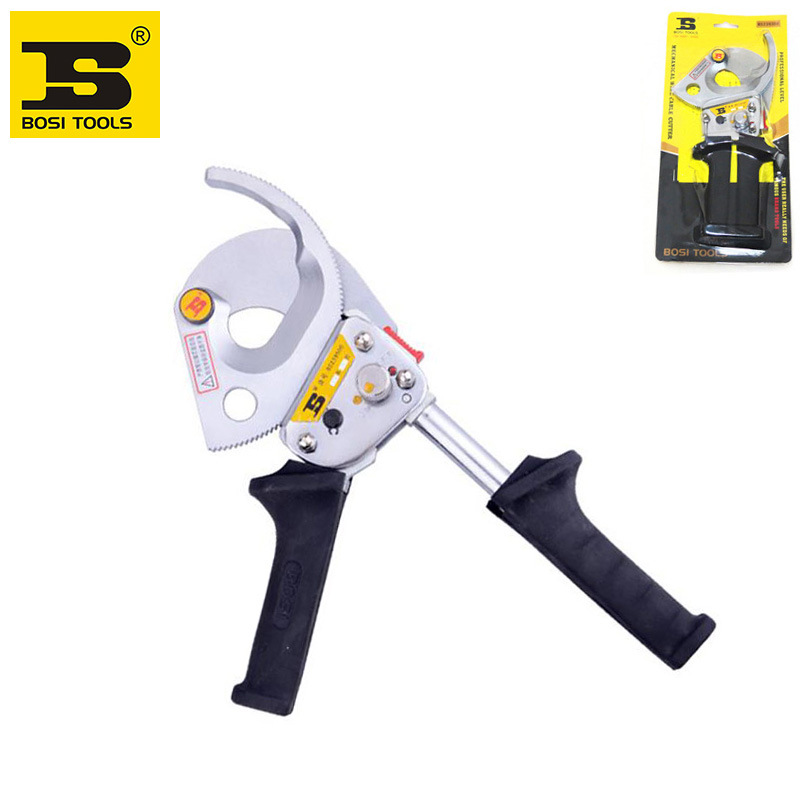 BOSI Heavy Duty Ratchet Cable Cutter Cut Up To 300mm2 Ratcheting Wire Cut Tool new ratchet cable wire cutter cut up to 240mm hs 325a