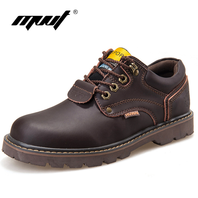 438261d0e Мужские ботинки из натуральной кожи, классические рабочие ботильоны, мужские  зимние ботинки из нубука,