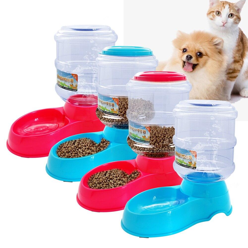 3.5L Plastic Automatic Pet Feeder Drinki