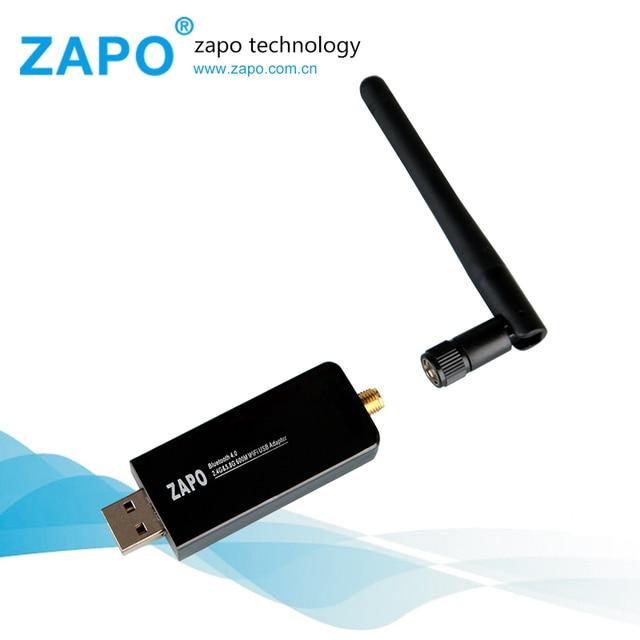 600 Mbps USB 2.0 Placa de Rede Sem Fio Wi-fi 802.11 ac/b/g/n LAN Adapter Bluetooth 4.0 giratória Antena Dual Band 2.4G-5G Pacote