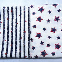 1 Meter Stripe Star Pirnt Cotton Twill Fabric Home Textile Table Cloth Sewing Baby Quilts Fabric