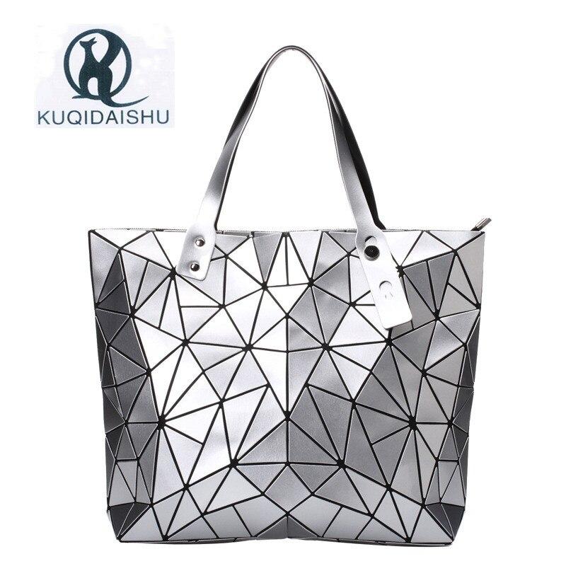 2018 Mulheres de luxo Bolsa de Moda Bao Sacos de Praia Mão Holograma Bolsa de Ombro sac a principal bolsa de Mensageiro Embreagem bolsa feminina de Prata