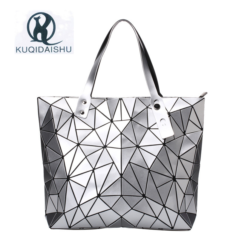 2018 Bao moda mujeres de lujo bolso de la playa bolsos holograma bolsa de hombro sac a principal embrague del mensajero bolsa feminina plata