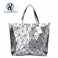 2019 Mulheres de luxo Bolsa de Moda Bao Sacos de Praia Mão Holograma Bolsa de Ombro sac a principal bolsa de Mensageiro Embreagem bolsa feminina de Prata