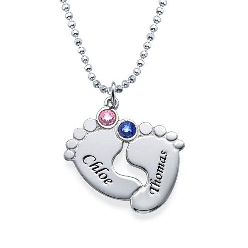 Collar de cristal Gargantilla Huella Nombre Único Collar de Regalo - Bisutería