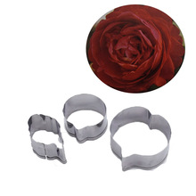 Stainless Steel Camellia Petal Leaf Pattern Clay Cutter DIY Thai Flower Soft Paper Polymer Cutting Mold Tools