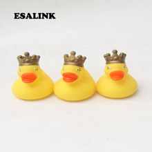 3pcs classic toys baby s favorite bathroom floating rubber ducks cute small crown the king style duck fun for kids
