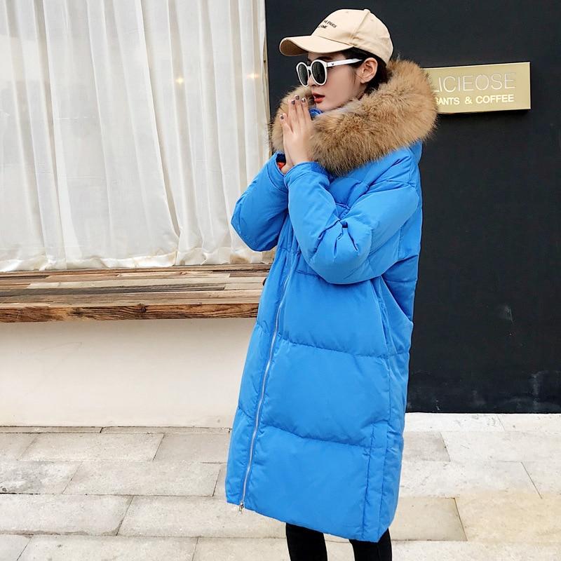Luxe Hiver Veste Qualité Canard Black Mode Épais Le Duvet red Femmes Chaud blue Wq447 Style Grand De Manteau 90 Fourrure Grande Bas Marque Vers 76aTxq