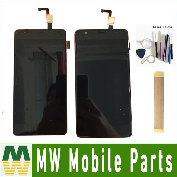 Black color For Fly POWER PLUS FHD FS554 LCD Display Screen Touch Digitizer Assembly + Tools & TAPE