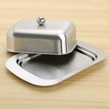 1Set Butter Box Stainless Steel For Storage Fruit Salad Dinner Tray Cheese Container Kitchen Cooking Dish