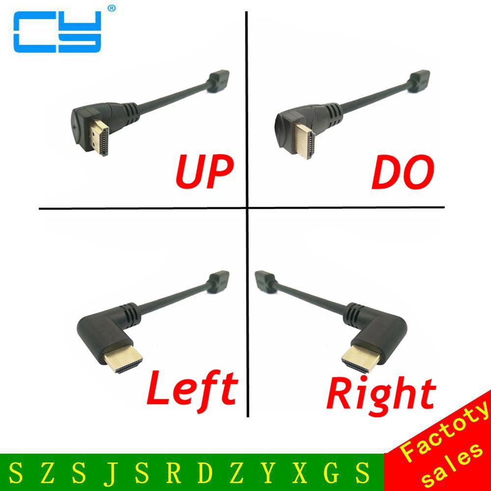 15cm / 60cm / 180cm HDMI 2.0 -kaapelin kulma 90 astetta HDMI-HDMI-kaapeli 4k HDMI-kaapeli 4K 1080P 3D PS3-projektorille HD-tietokoneen kaapeli