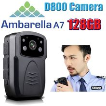 Free Shipping!Original D800 Full HD 1080P Body Worn Police IR Night Vision 128GB Police Camera Police Body Camera