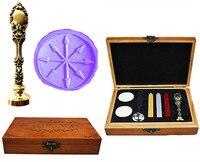 Vintage Arrows Darts Compass Luxury Wax Seal Sealing Stamp Brass Peacock Metal Handle Sticks Melting Spoon