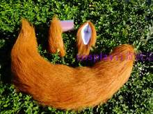 Natsume's Book of Friends Small Fox Wolf Ears and Tail Cosplay Universal Brown Plush Tail Props Toy(China)