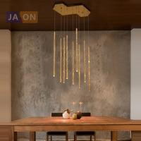 LED Postmodern Stainless Steel Golden Flute LED Lamp LED Light.Pendant Lights.Pendant Lamp.Pendant light For Dinning Room Foyer