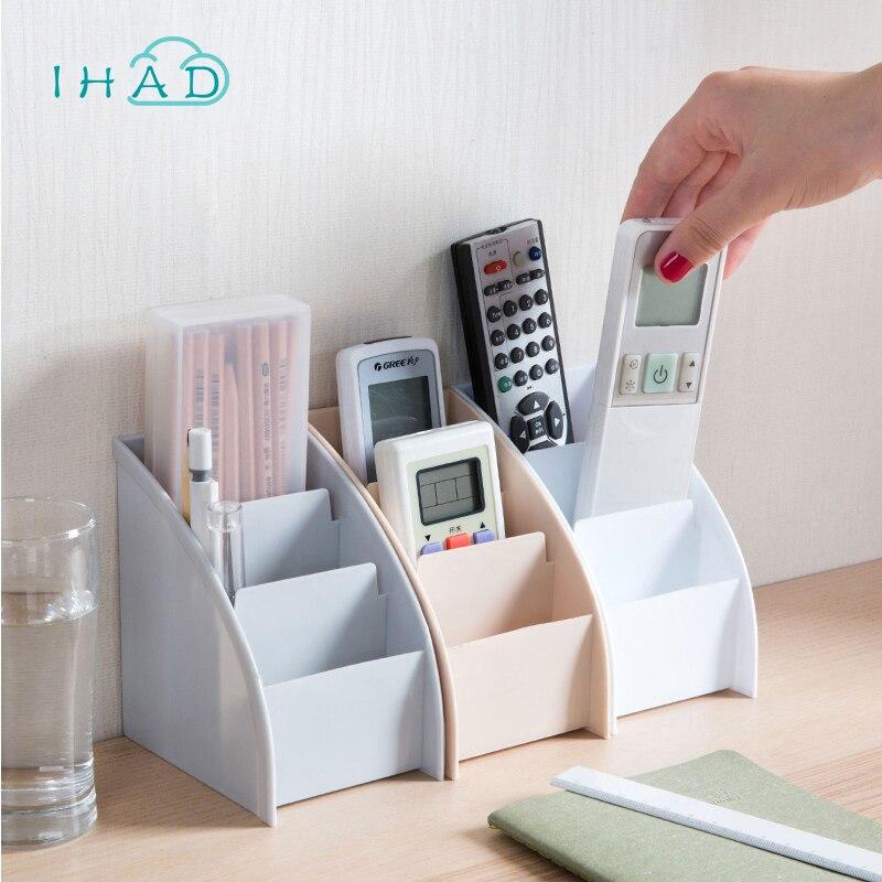 Organizador casero ampliamente uso caja de almacenamiento de escritorio titular pluma objetos pequeños maquillaje organizador cajas de control remoto