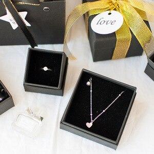 Image 2 - 1pc 크리스마스 고품질 검은 달콤한 gif 상자 사랑하는 발렌타인 데이 종이 선물 가방 크리 에이 티브 웨딩 보석 상자 포장
